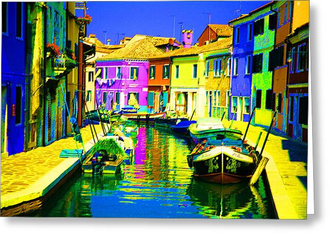 Neptune's Canal Greeting Card by Donna Corless