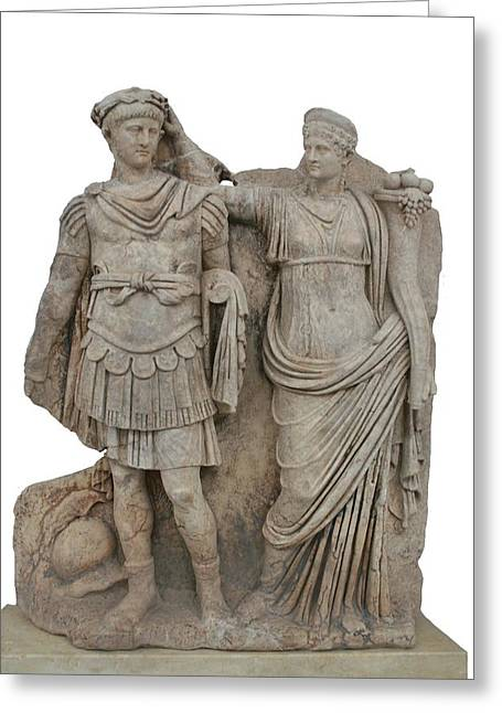 Nero And His Mother Agrippina Greeting Card by Tracey Harrington-Simpson