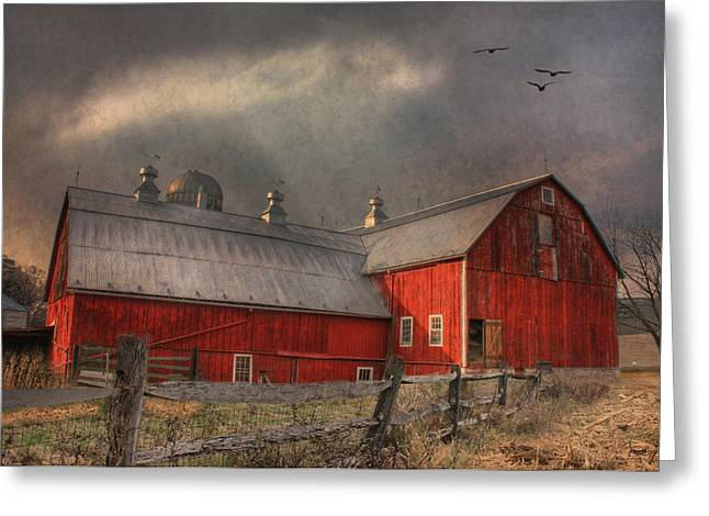 Nescopeck Duck Barn Greeting Card by Lori Deiter