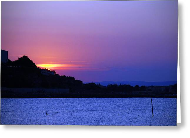 Nessebar Sunse  Greeting Card