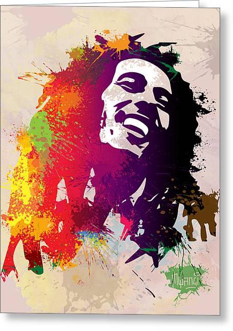 Jah rastafari greeting cards fine art america nesta robert greeting card m4hsunfo