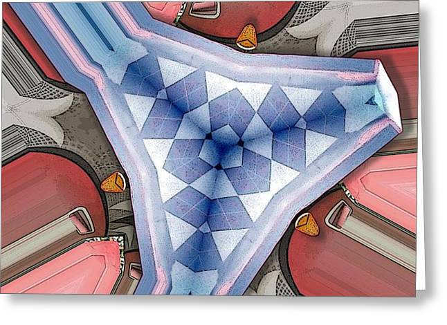 Nested Argyle Greeting Card by Ron Bissett