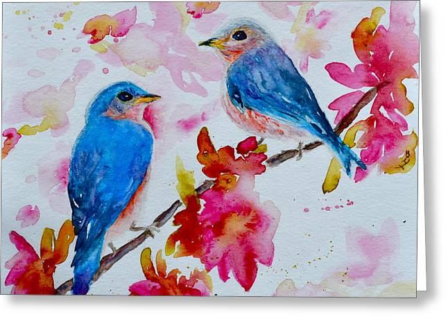 Nesting Pair Greeting Card by Beverley Harper Tinsley