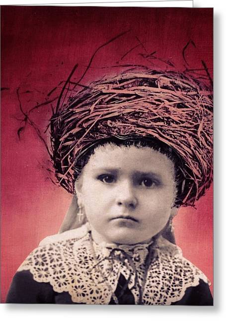 Nesting Series Girl With Lace Greeting Card