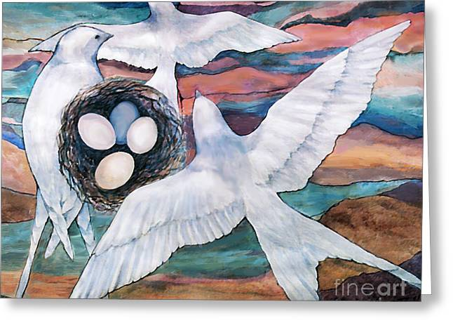 Nesting Greeting Card by Ursula Freer
