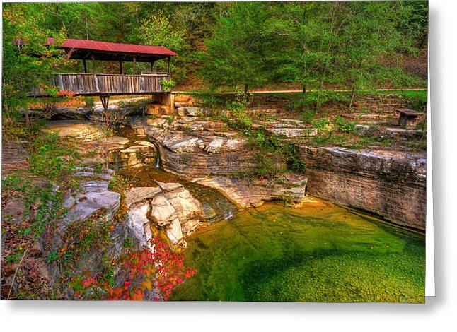 Covered Bridge In Spring - Ponca Arkansas Greeting Card