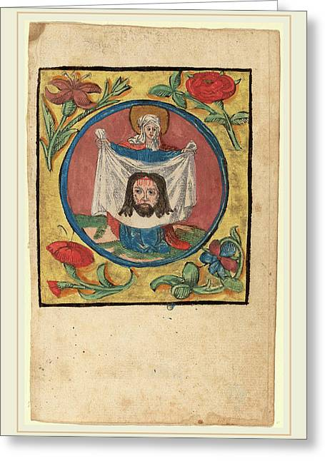 Netherlandish 15th Century, Saint Veronica With The Sudarium Greeting Card by Litz Collection