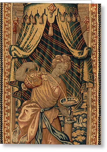 Netherlandish 16th Century, The Four Cardinal Virtues Greeting Card