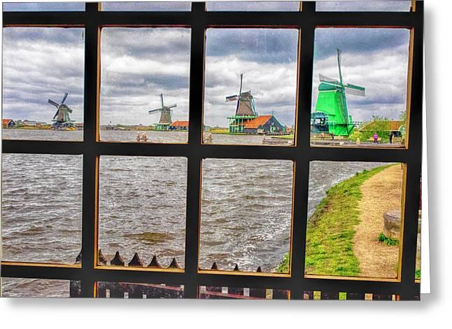 Netherlands, Zaandam, Zaanse Schans Greeting Card