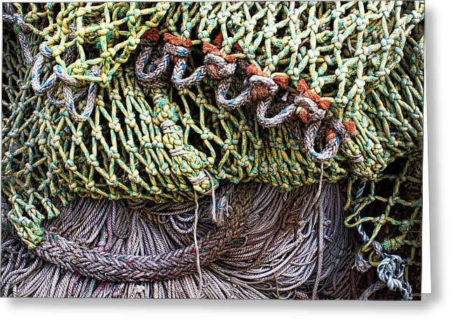Nets And Knots Number Three Greeting Card