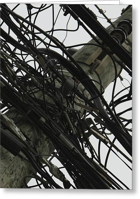 Greeting Card featuring the photograph Network Chaos by Nick Mares