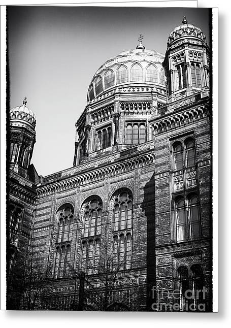 Neue Synagogue Greeting Card by John Rizzuto