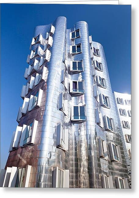 Neuer Zollhof Building Designed Greeting Card by Panoramic Images