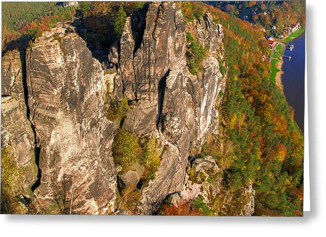 Neurathen Castle In The Saxon Switzerland Greeting Card