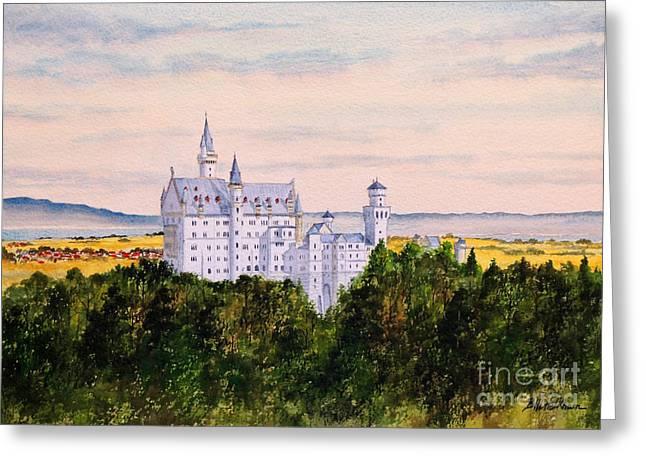 Neuschwanstein Castle Bavaria Germany Greeting Card by Bill Holkham