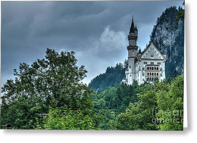 Greeting Card featuring the photograph Neuschwanstein Castle by Joe  Ng