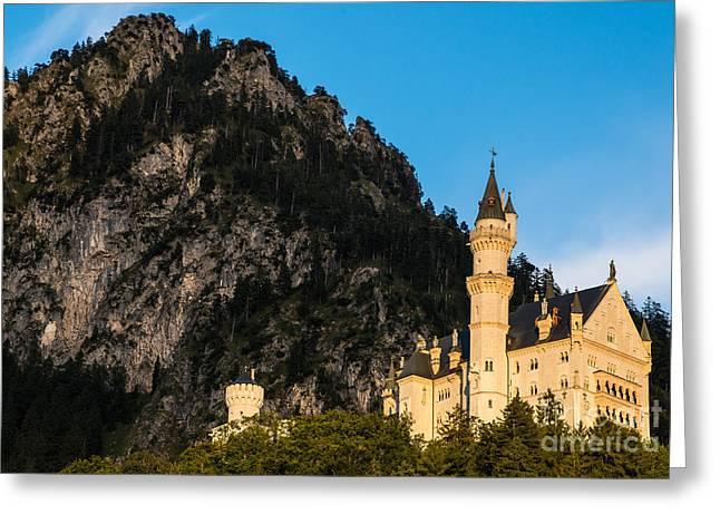 Neuschwanstein Castle Sunset - Bavaria - Germany Greeting Card by Gary Whitton