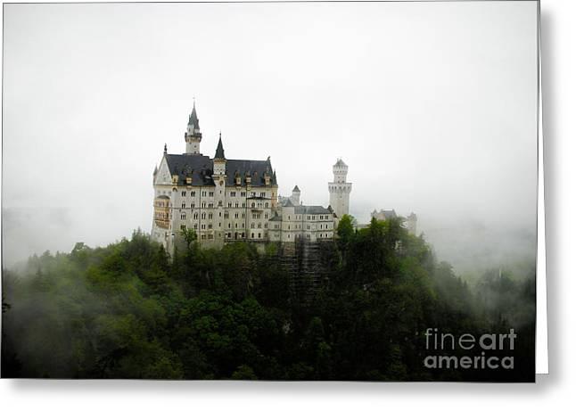 Neuschwanstein In The Clouds Greeting Card by Ksenia VanderHoff