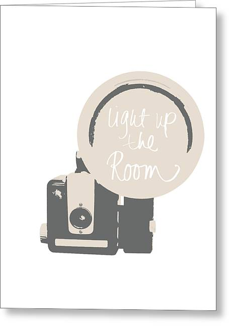 Neutral Glam Camera Greeting Card