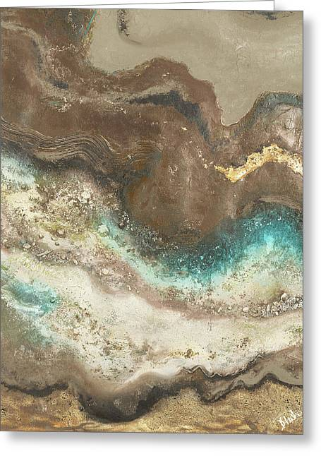 Neutral Tierra Rectangle I Greeting Card by Patricia Pinto
