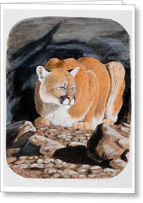 Nevada Cougar Greeting Card