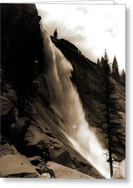 Nevada Fall, Jackson, William Henry, 1843-1942, Waterfalls Greeting Card by Litz Collection