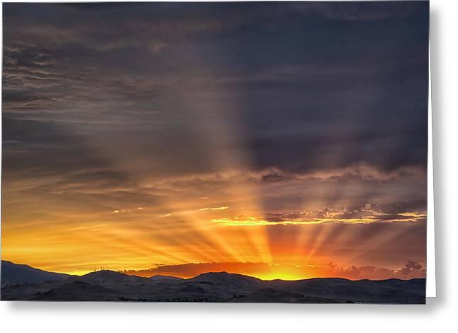 Nevada Sunset Greeting Card