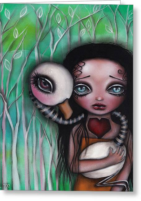Never Alone Greeting Card by  Abril Andrade Griffith