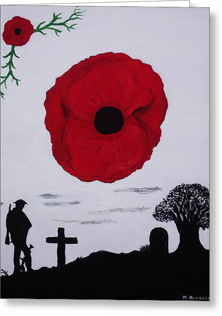 Greeting Card featuring the painting Never Forgotten by Martin Blakeley