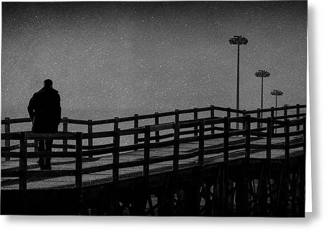 Never Goodbye Greeting Card by Paulo Abrantes