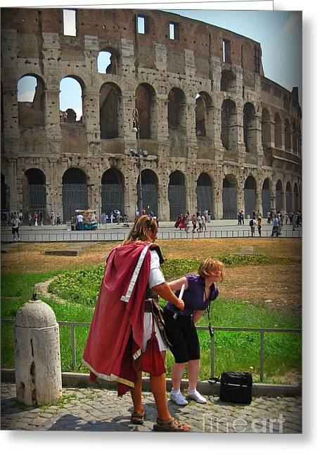 Never Trust A Gladiator Greeting Card by John Malone