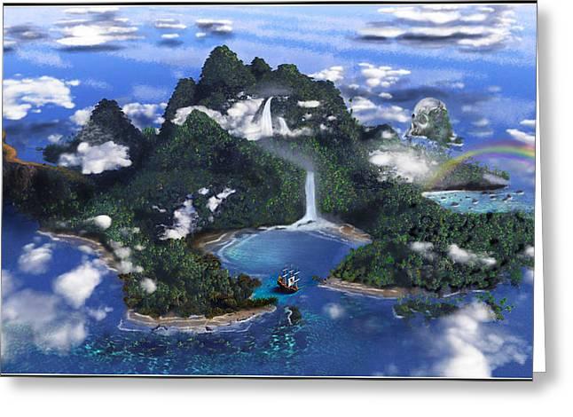 Neverland Greeting Card by Omar Rubio