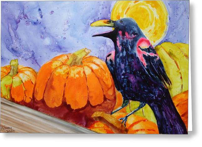 Nevermore Greeting Card by Nancy Jolley