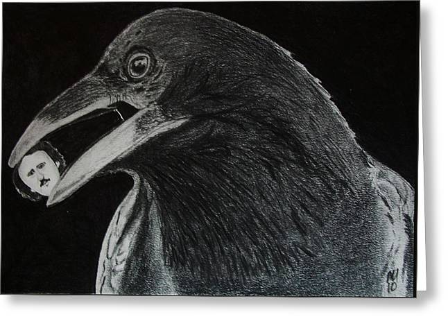 Nevermore Greeting Card by Nick Young