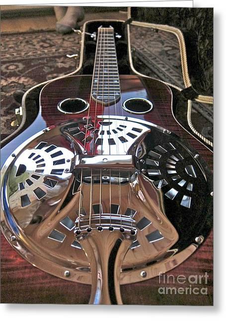 New 6 String Guitar Greeting Card