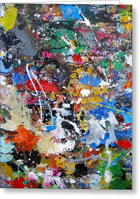 New Abstract Greeting Card by Melinda Saminski