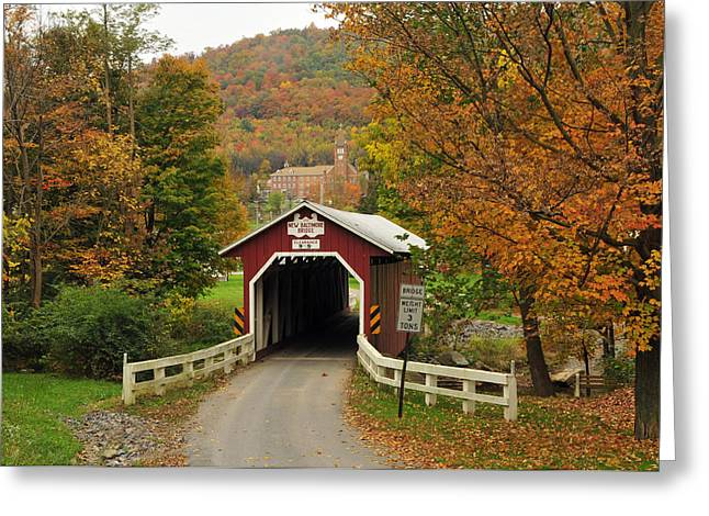 New Baltimore Covered Bridge Greeting Card