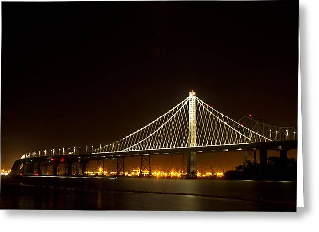 New Bay Bridge Greeting Card by Bill Gallagher