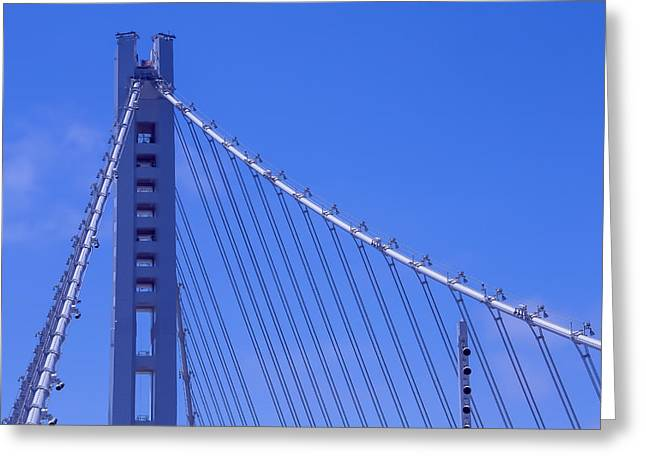 New Bay Bridge Tower Greeting Card by Garry Gay