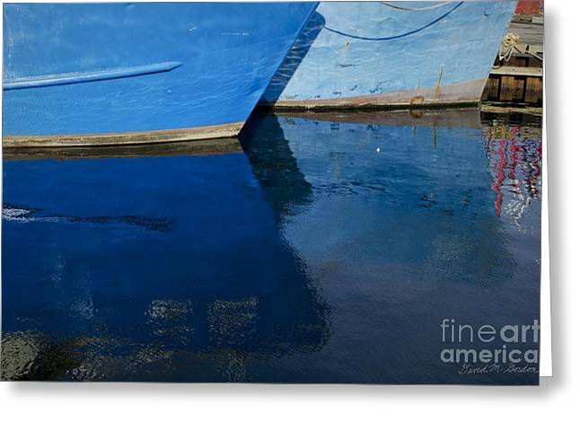 New Bedford Waterfront X Greeting Card by Dave Gordon