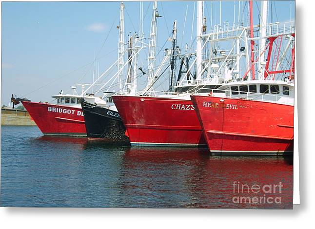 New Bedford's Commercial Fishing Fleet Greeting Card