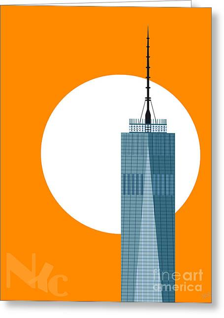 New Beginnings Freedom Tower Greeting Card by Nishanth Gopinathan
