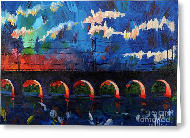 Greeting Card featuring the painting New Brunswick Certainly Has It's Moments by Michael Ciccotello