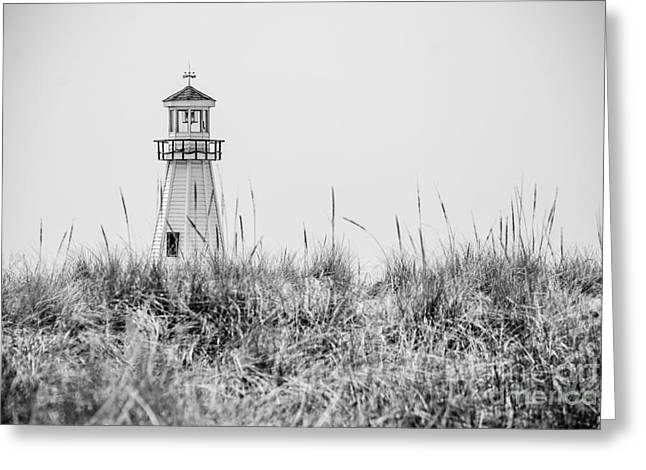 New Buffalo Lighthouse In Southwestern Michigan Greeting Card by Paul Velgos