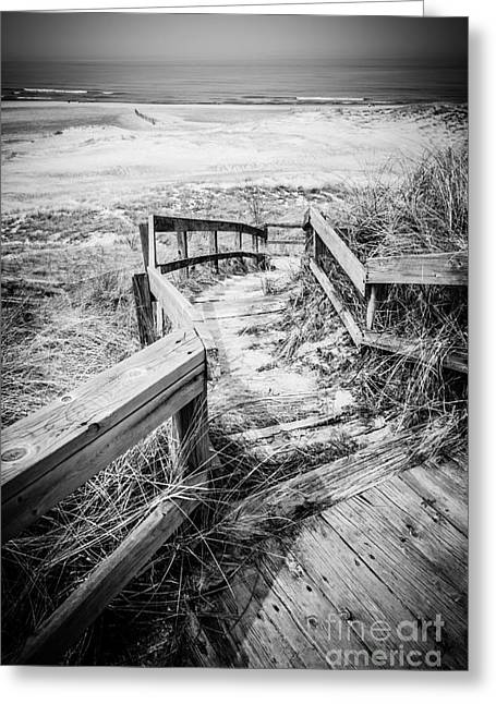 New Buffalo Michigan Boardwalk And Beach Greeting Card by Paul Velgos