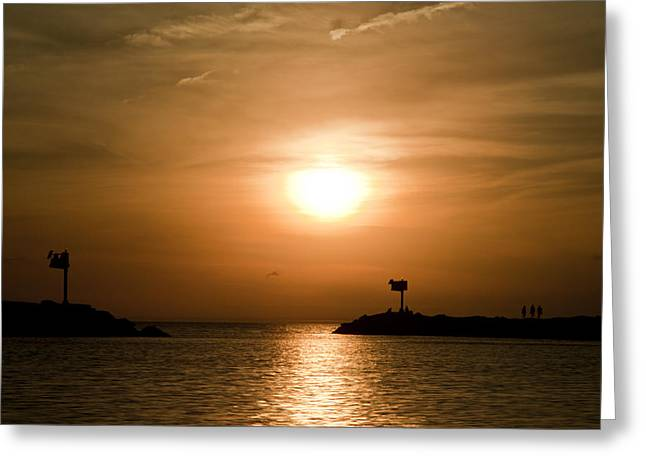 New Buffalo Sunset Greeting Card