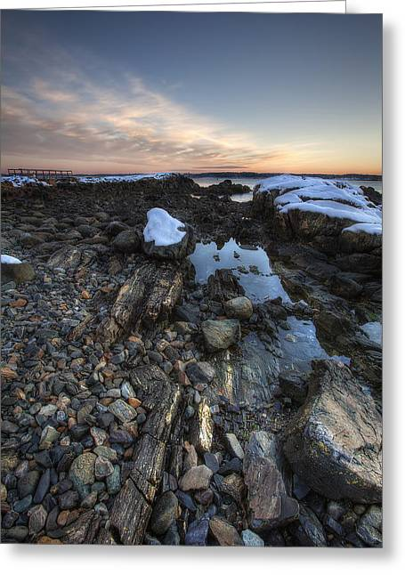 New Castle Dawn Greeting Card by Eric Gendron
