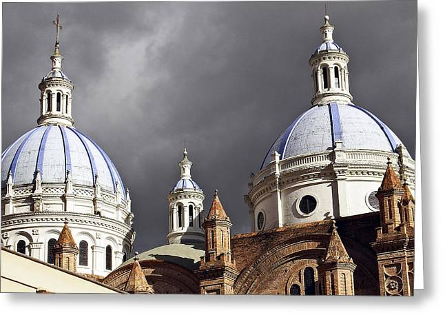 New Cathedral Cuenca Ecuador Greeting Card