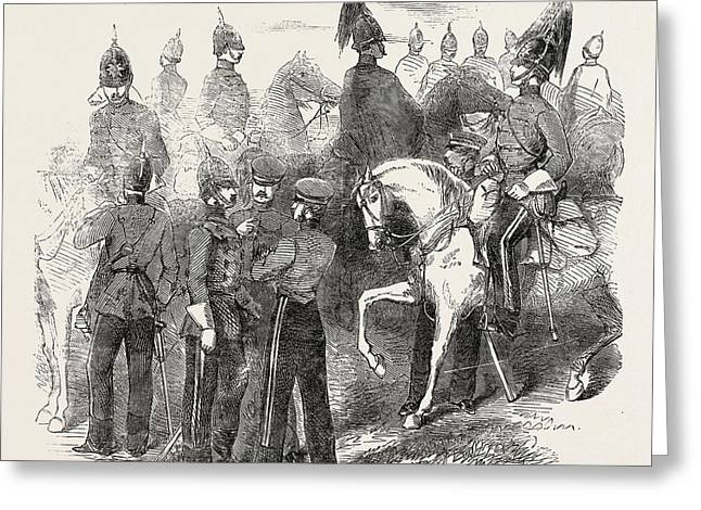 New Cavalry Corps The Mounted Staff 1854 Greeting Card by English School