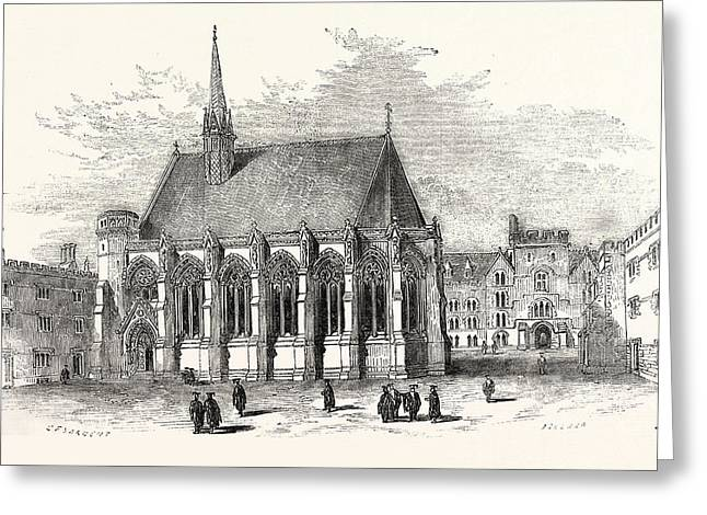 New Chapel, Exeter College, Oxford, Oxford University, Uk Greeting Card by English School